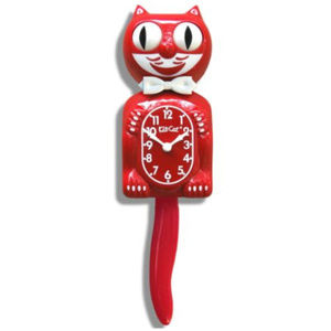 Urban Outfitter Scarlet Red KIT-CAT CLOCK KLOCK